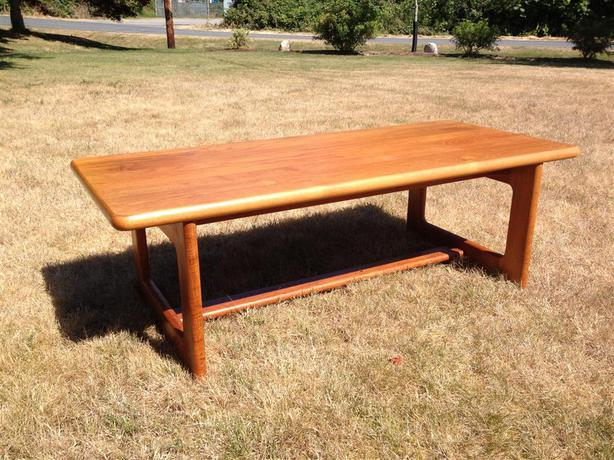 Solid Teak Coffee Table Nanoose Bay Nanaimo: solid teak coffee table