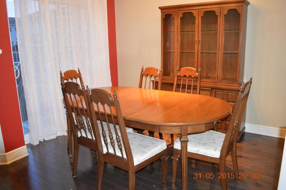 Dining Room Table Chairs And Hutch Orleans Ottawa