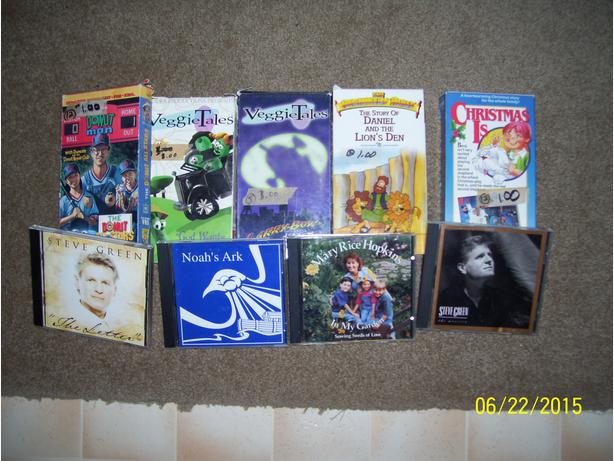 Christian Kids videos cd's computer games