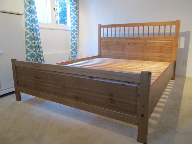 IKEA Hemnes Pine Queen Bed Victoria City, Victoria
