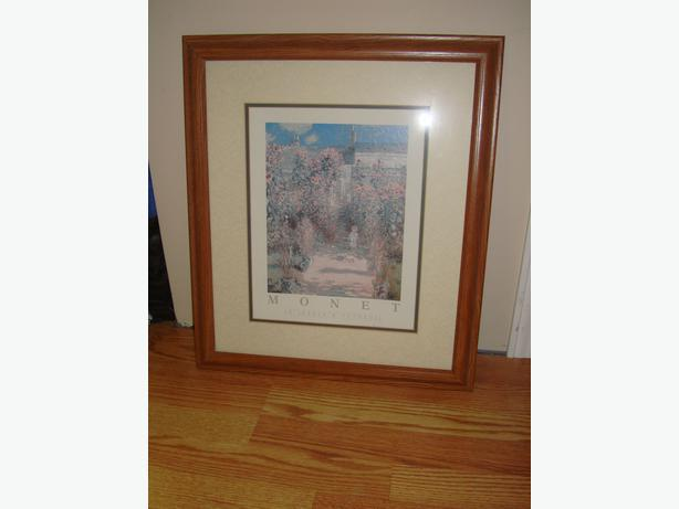 Beautiful Large Monet Picture with Glass Frame - $12