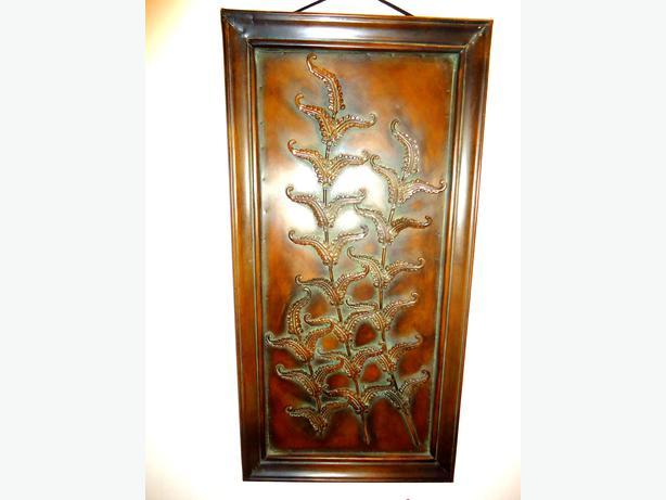 Very Unique Tall Metal Copper Artwork