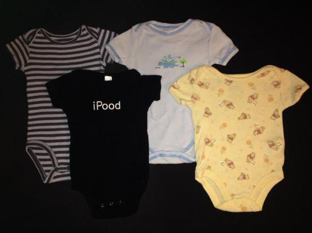 4 pce onesie lot 3-6 months