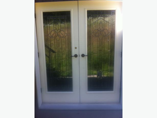 Beautiful Double Exterior French Doors With Iron Accents Outside Nanaimo Parksville Qualicum Beach
