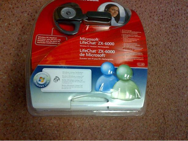 NEW MICROSOFT LIFECHAT ZX-6000 WIRELESS HEADSET RECHARGEABLE