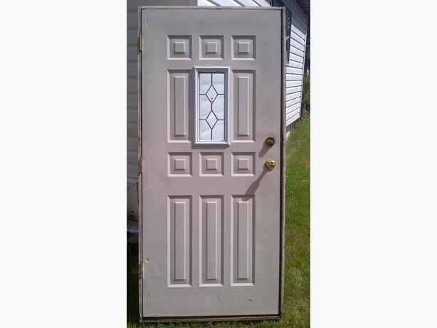 steel door in frame 36 x 80 passage door set deadbolt but no ke