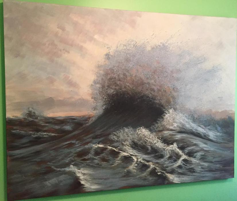 Huge seascape painting north regina regina mobile for 5334 seascape terrace nanaimo