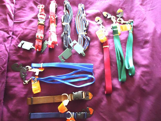 Designer Dog Collars, Leashes & Matching Sets - New with Tags $15-$25