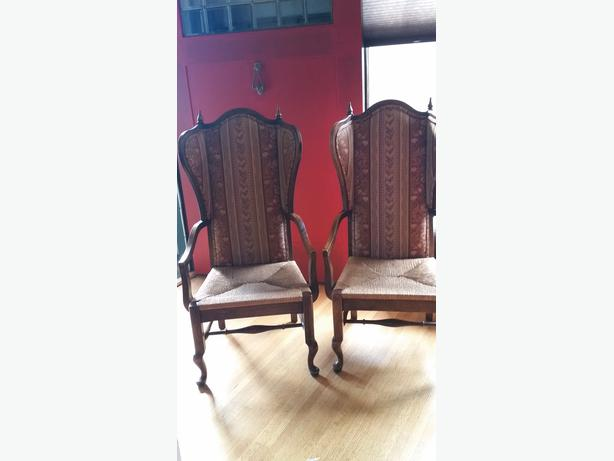 Two matching arm chairs oak bay victoria for Matching arm chairs