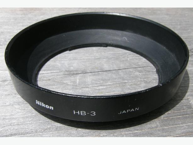 NIKON HB-3 BAYONET CAMERA LENS HOOD VGC For 24-50mm Lens