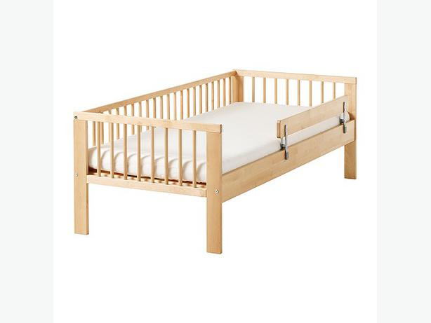 IkEA Gulliver Toddler Bed With Mattress And Guard Rail Oak
