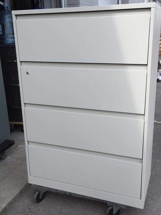 4 Drawer Lateral File Cabinets Matt White Finish