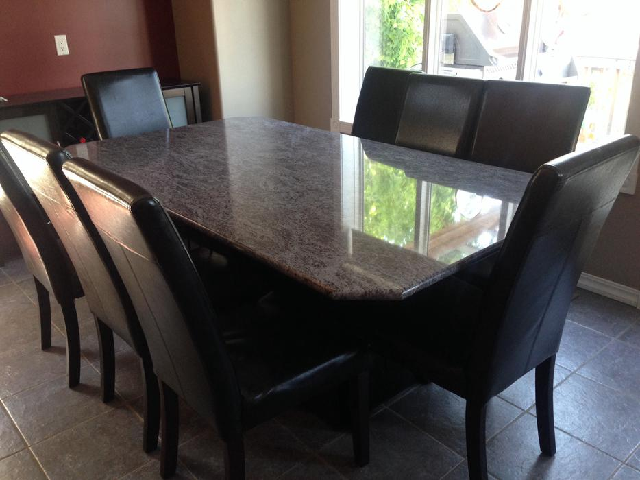 Granite Dining Table And 8 Chairs West Regina Regina MOBILE