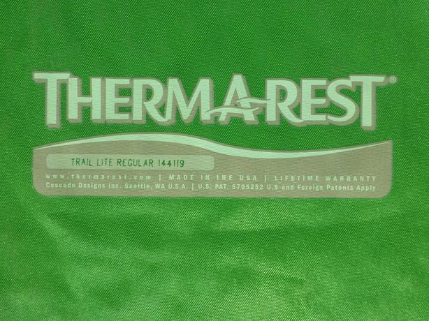 thermarest trail lite regular sleeping pad north saanich sidney victoria. Black Bedroom Furniture Sets. Home Design Ideas