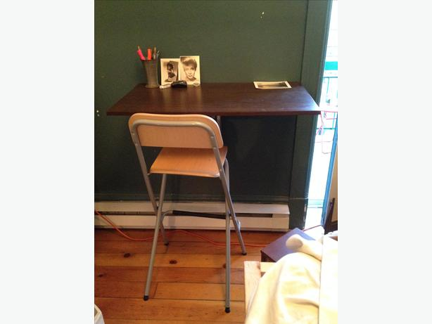 IKEA Wall Mounted Drop Leaf Table (desk) And Chair
