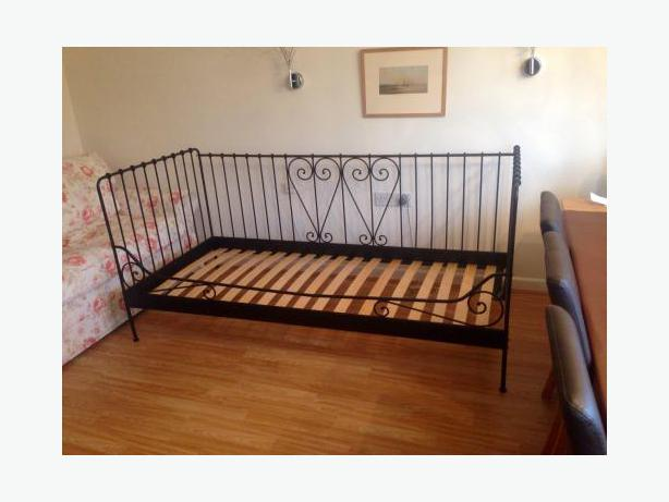 Lovely ikea metal day bed oak bay victoria for Metal day beds ikea