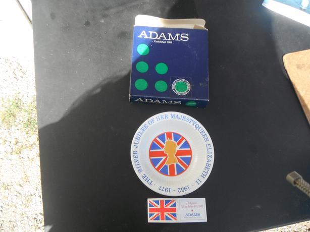 Silver Jubilee Majesty Queen Elizabeth plate