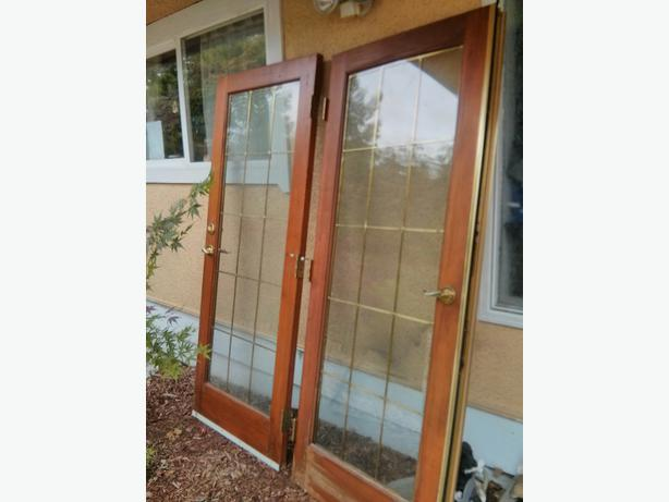 Used french doors courtenay courtenay comox for Used french doors