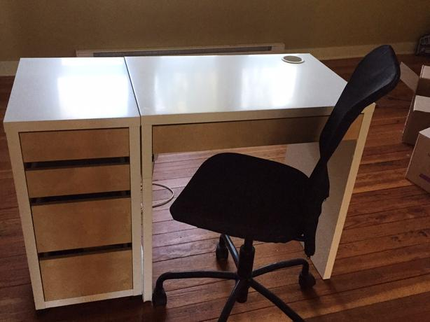 we are downsizing and have an ikea micke desk for sale