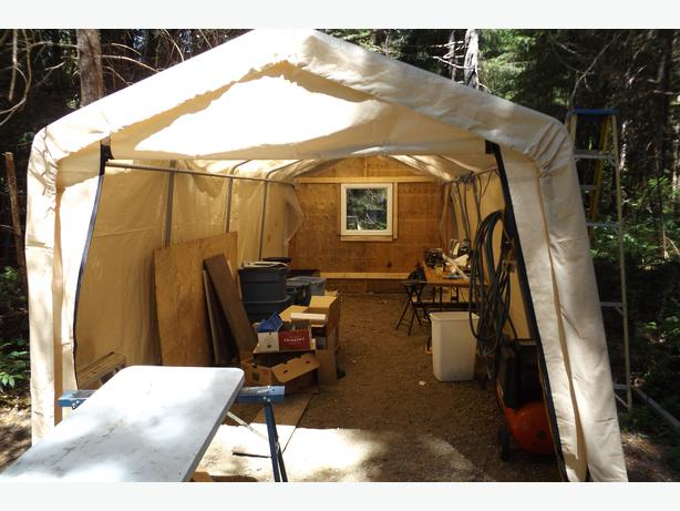 Used Portable Garages And Shelters : Portable shelter garage campbell river courtenay comox