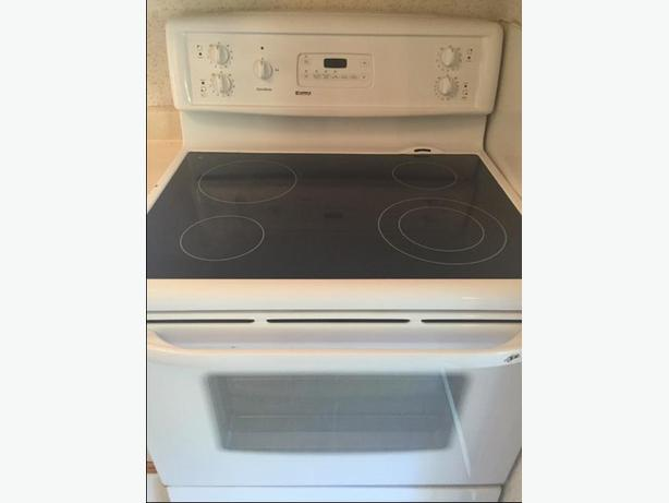 Flat Top Electric Stove ~ Kenmore quick bake electric oven with flat top stove