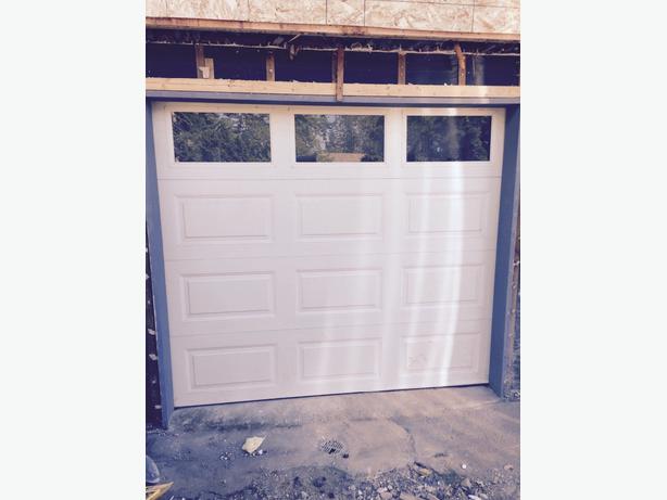 Garage door 7 39 high 8 39 wide west shore langford colwood for How wide is a garage door