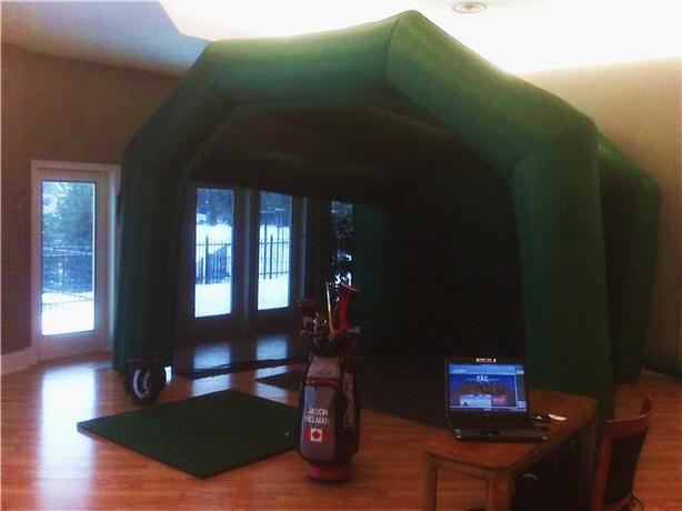 Boom Room Inflatable Driving Range And Premium Mat North