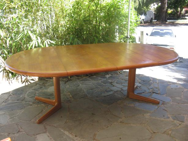 log in needed 550 dyrlund teak dining table with 2 leaves edward