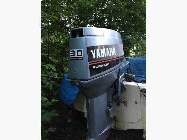 30 hp yamaha 2 stroke with electric start controls malahat for Yamaha 30hp 2 stroke