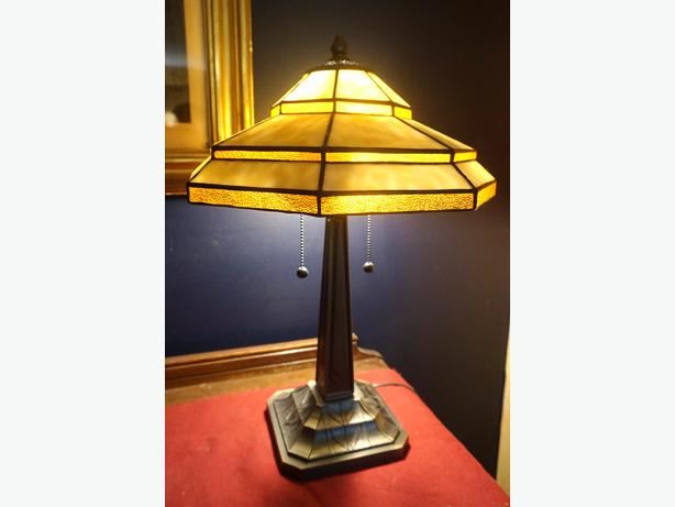 4u2c Tiffany Style Lamp With Heavy Metal Base Gloucester