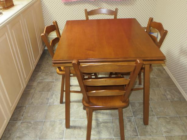 VILAS MAPLE TABLE AND 5 CHAIRS Oak Bay Victoria : 47787030614 from www.usedvictoria.com size 614 x 460 jpeg 40kB