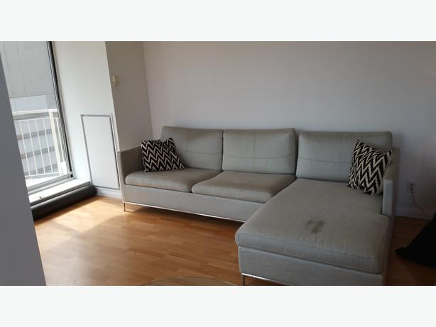 Beautiful modern light grey couch from CB2