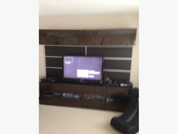ikea besta tv wall unit system north west calgary. Black Bedroom Furniture Sets. Home Design Ideas
