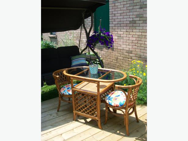 Gorgeous Bamboo 3 Piece Bistro Set Can Deliver Rideau