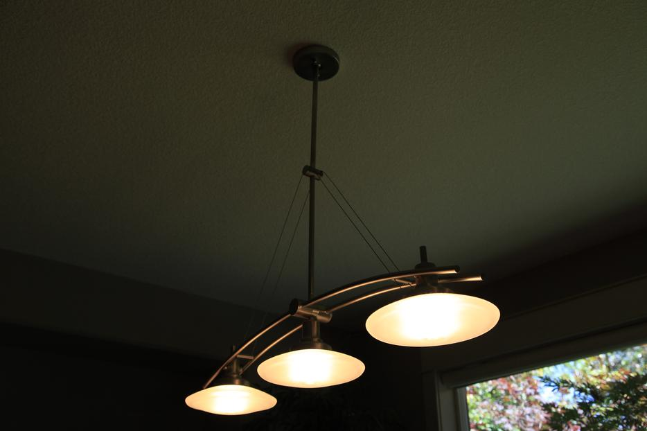 Brushed Stainless Lighting Fixture Dining Room Nanoose