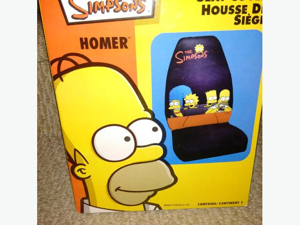 Simpsons car seat cover