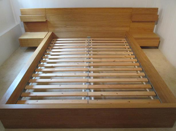 Ikea malm bed frame with night stands oak bay victoria - Malm bed with nightstands ...