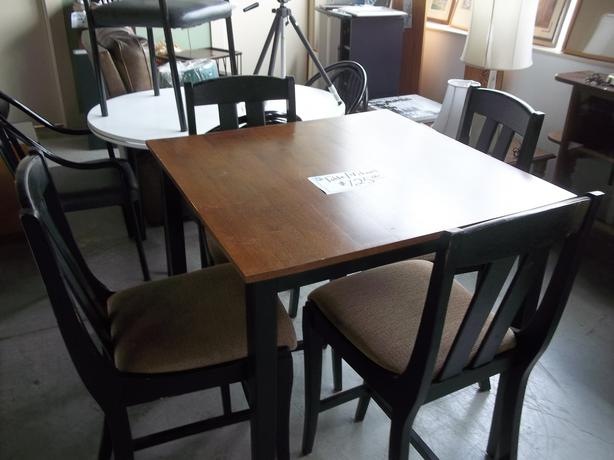 Bar Stool Style Chairs and Table for ale at St Vincent de ...