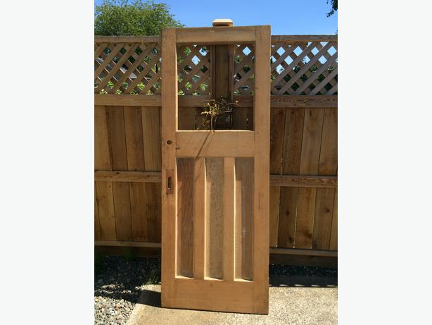 Antique solid wood door campbell river courtenay comox for Vintage solid wood doors
