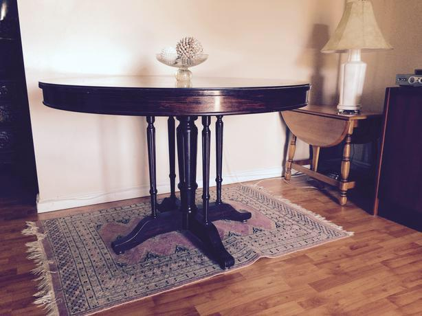 Dining table cherry 48 diameter 31 tall saanich for Tall glass dining table
