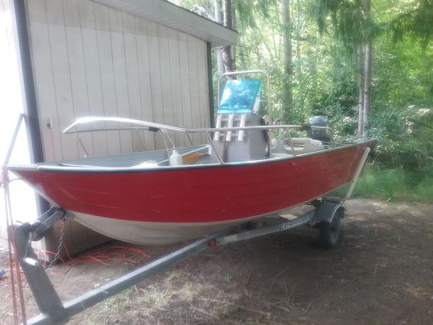 Boat 16 ft aluminum duroboat center console west shore for 16 ft fishing boat