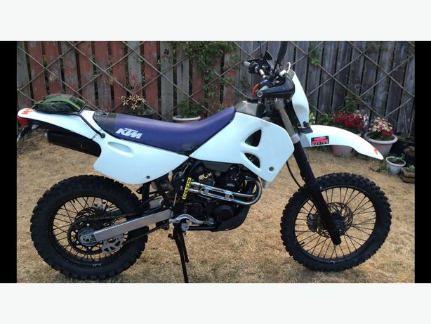 price drop 1996 ktm 400 exc, street legal dirt bike west shore