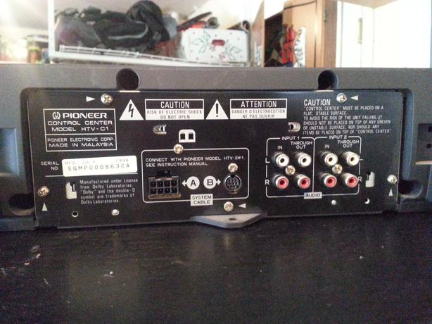 Pioneer htv-1 amp receiver addendum a technical manual.