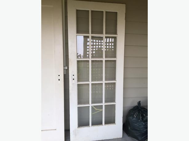 Free 15 lite french door solid wood oak bay victoria for 15 lite french door