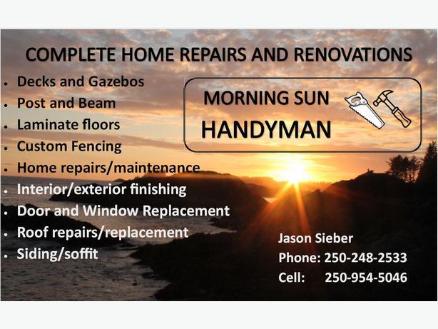 Old Fashioned Quality Handyman Outside Nanaimo Nanaimo