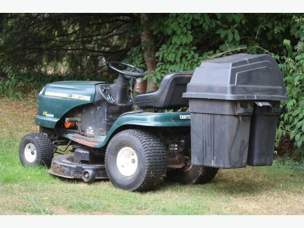 Craftsman Lt1000 Riding Mower : Craftsman lt lawn tractor mower outside comox valley