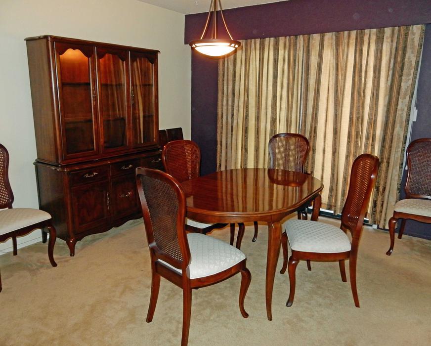 Reduced Price Vintage Gibbard Made Dining Room Suite