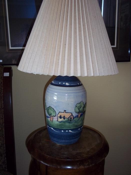 Salt Lamps Kamloops : Ceramic table lamp Oak Bay, Victoria