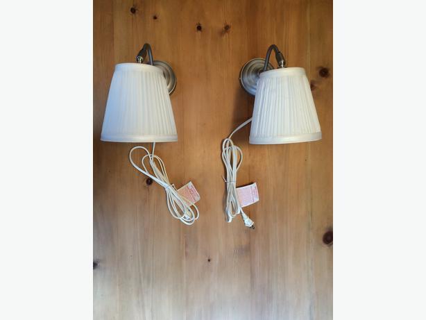 2 ikea arstid wall lamps victoria city victoria. Black Bedroom Furniture Sets. Home Design Ideas