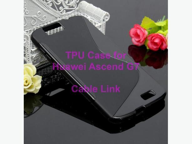 S Shape TPU Case for Huawei Ascend G7